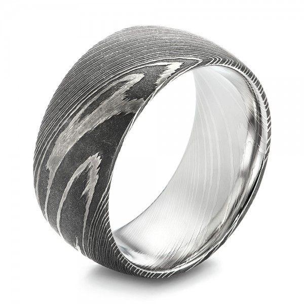 damascus steel mens wedding ring joseph jewelry bellevue seattle online design