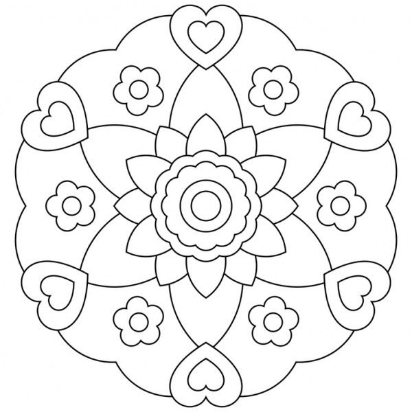 Easy Free Mandala Coloring Pages