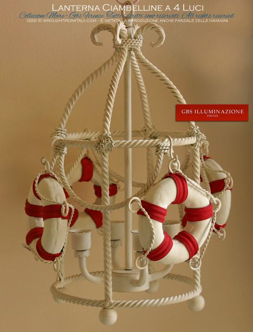 Lanterna Yacht. Wrought iron lantern by GBS. Made in Florence. Since 1925