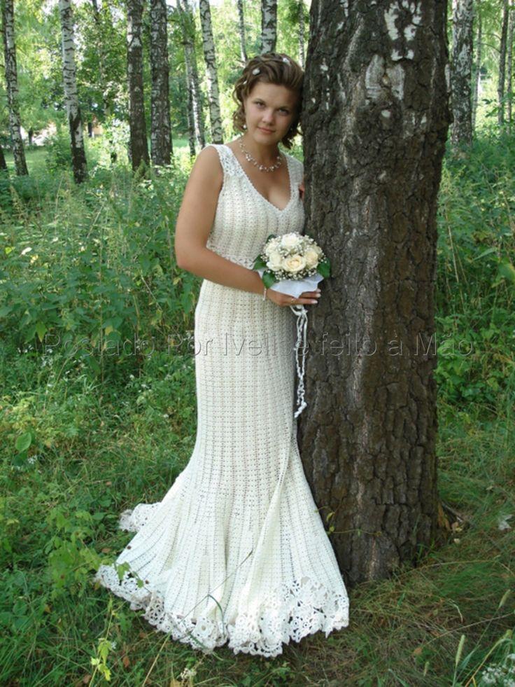 vestido de noiva de croche 6