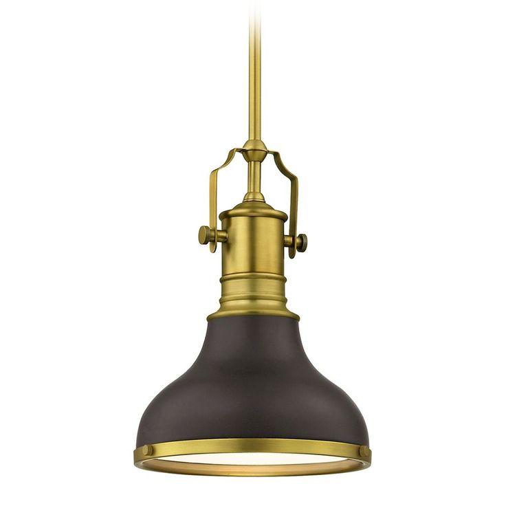 Farmhouse Small Pendant Light Bronze / Brass 8.63-Inch Wide at Destination Lighting