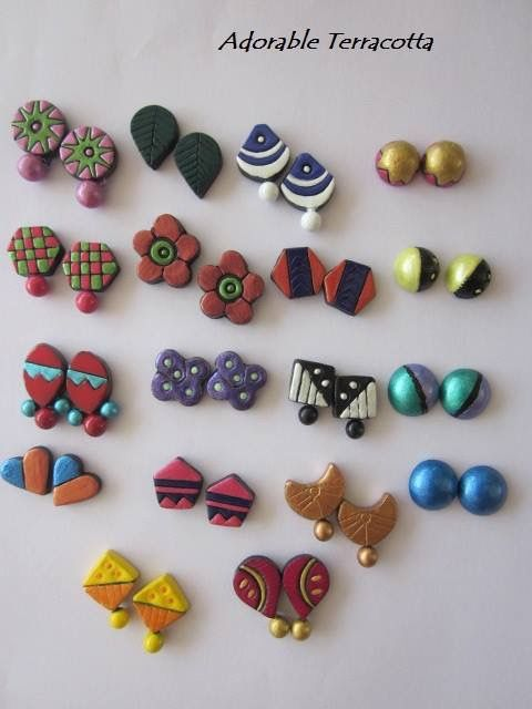Pin By Sirisha Kundurthy On Terracotta Earrings Pinterest Jewellery And Clay Jewelry