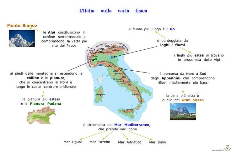 14. L Italia sullla carta fisica