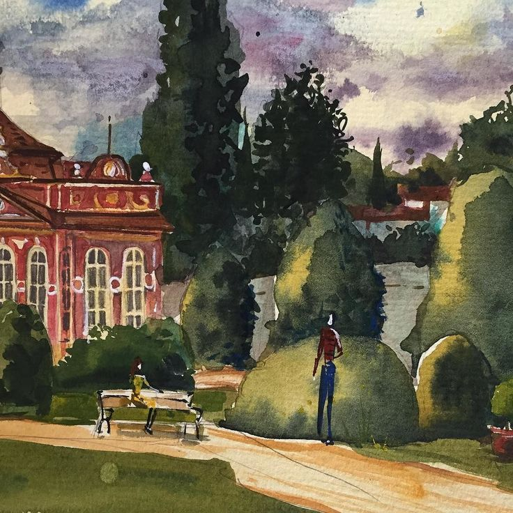 One more piece of my recent fancy Prague park painting. It was actualy my first expirience with so much green color in one piece. Green is quite hard core I'd say. But nicely challenging:)