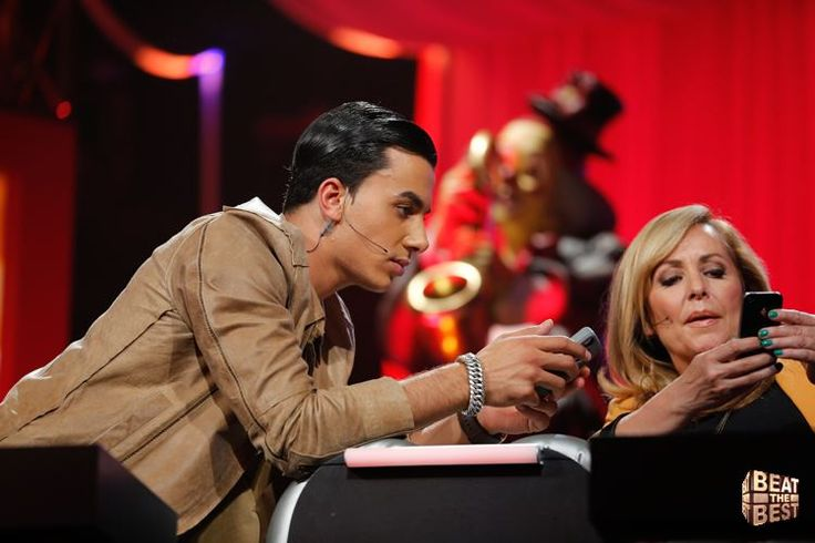 Angela Groothuizen and Timor Steffens, both member of the jury in RTL4-show '' Beat the best' (2012)