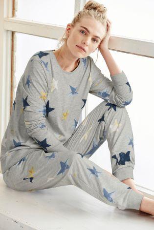 Buy Grey Star Print Pyjamas online today at Next: Belgium