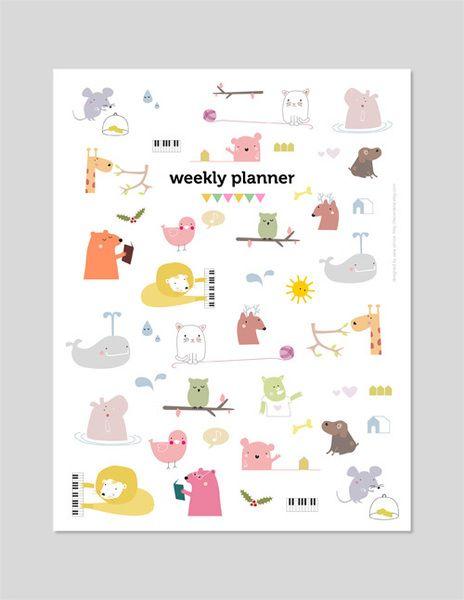 PDF printable - 2014 Kalender von teconlene auf DaWanda.com