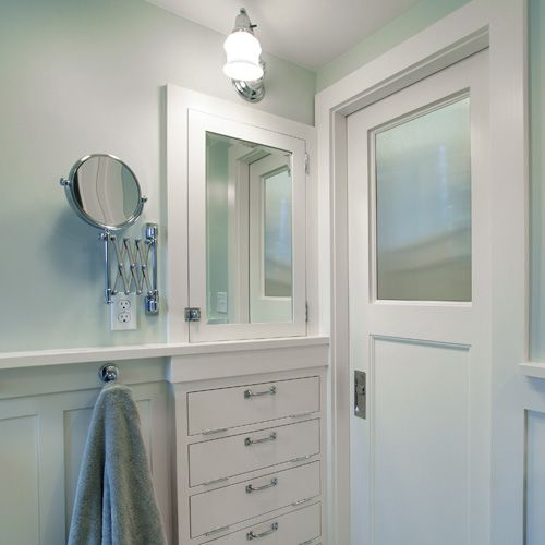 Pocket door heading from master to master bath little for Master bathroom pocket door