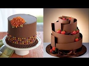 Top 15 Amazing Chocolate Cakes Decorating Techniques - Most Satisfying Video - Cake Style 2017 - YouTube