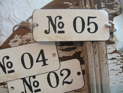 Number Hang Tags