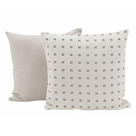Black Daisy Cross Cushion