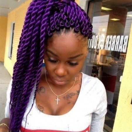 Senegalese Twists Purple On Pinterest Senegalese Twist Braids ...