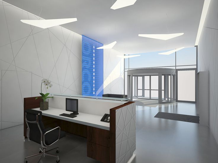 Recepcja w  biurowcu Orco / Reception in the office building Orco