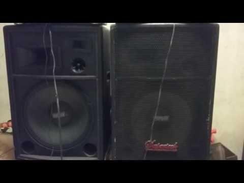 Caixas acústica ativas.