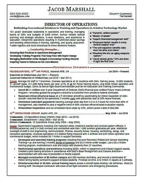 Military Resume Samples sample army resume