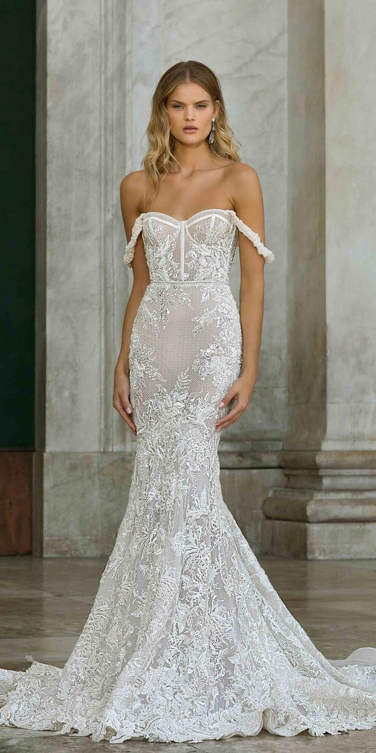30 Mermaid Wedding Dresses You Ll Admire Wedding Dresses Bridal Dresses Berta Wedding Dress [ 1472 x 736 Pixel ]