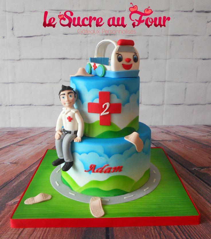 Ambulance man cake for a 2 year old boy-Le sucre au four