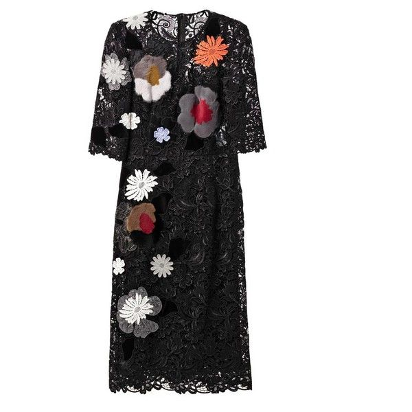DOLCE & GABBANA Embellished macramé-lace dress and other apparel, accessories and trends. Browse and shop 3 related looks.