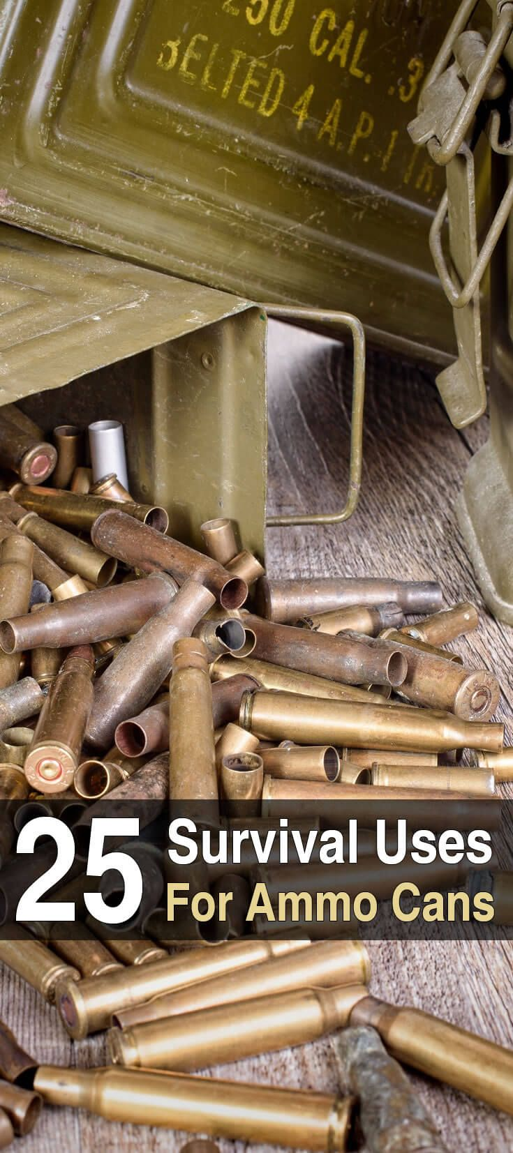 25 Survival Uses for Ammo Cans. Watch this video for 25 uses for ammo cans. #AmmoCans
