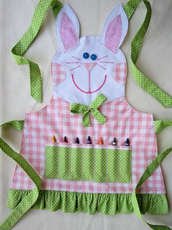 Moldes Para Artesanato em Tecido: Avental Infantil Com moldes                                                                                                                                                                                 Mais