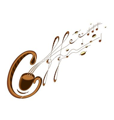 Coffee and music lettering vector 693294 - by Popmarleo on VectorStock®