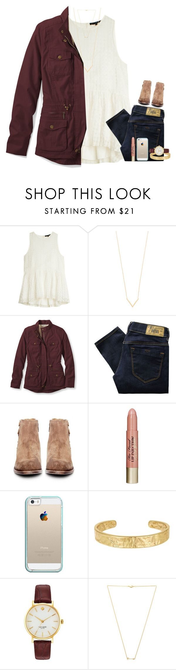"""""""tobymac!!"""" by hmcdaniel01 ❤ liked on Polyvore featuring TIBI, Jennifer Zeuner, L.L.Bean, Diesel, H by Hudson, Too Faced Cosmetics, Casetify, Sam Edelman, Kate Spade and Wanderlust + Co"""