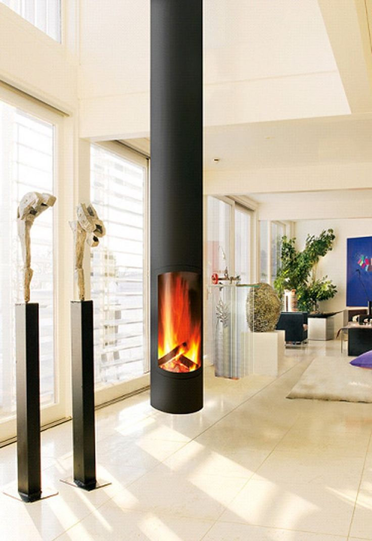 Discover all the information about the product Wood-burning fireplace /  contemporary / closed hearth / central SLIMFOCUS SUSPENDU - Focus and find  where you ...