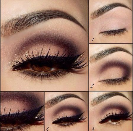 Beautiful eye makeup that goes with everything. I can do this with my purple!