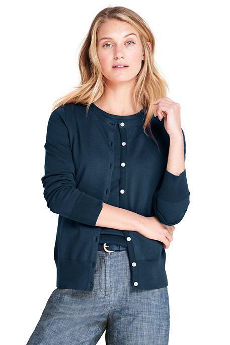 137504f9e9b Women's Supima Cotton Cardigan Sweater | Work Clothes | Cardigan ...