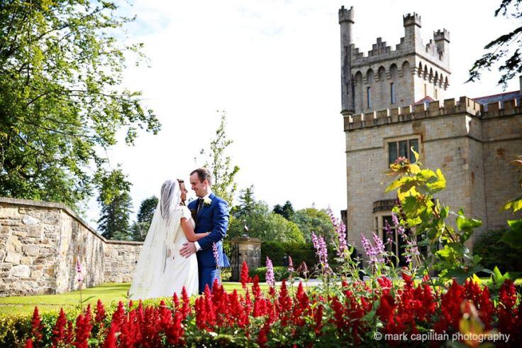 Bride & groom castle portrait wedding photographer donegal