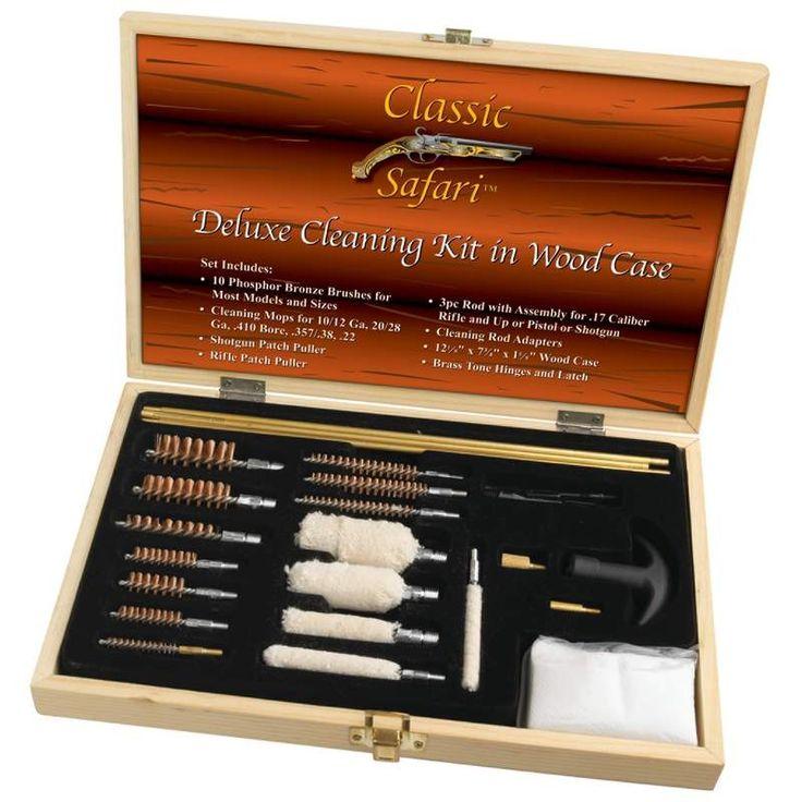 Classic Safari™ Deluxe Cleaning Kit in Wood Case  for handgun, rifle & shotgun  $29.99