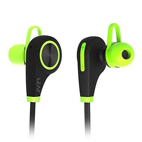 Leaf Ear Wireless Bluetooth Headphones | Sports Headset For Running and Gym | Sweatproof Jogger Earphones With Mic | | Wireless Workout Earbuds With Passive Noise Cancellation and HD Stereo Sound