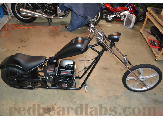 red beard labs mini chopper mini bikes go karts mini. Black Bedroom Furniture Sets. Home Design Ideas