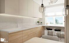 Projekt Rzeszów - Średnia otwarta kuchnia w kształcie litery u, styl nowoczesny - zdjęcie od TIKA