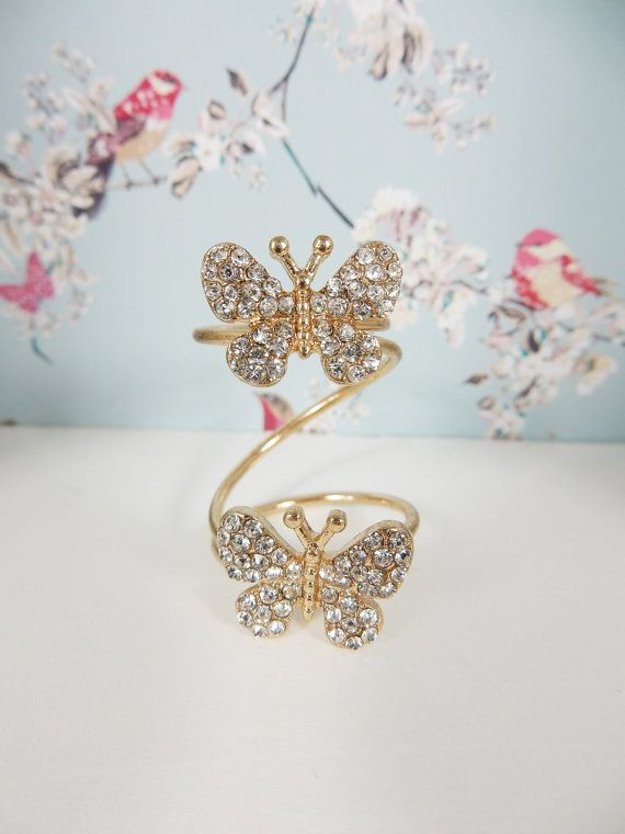 Statement Rings Fashion Rings Movember Butterfly Owl by Boutiqable