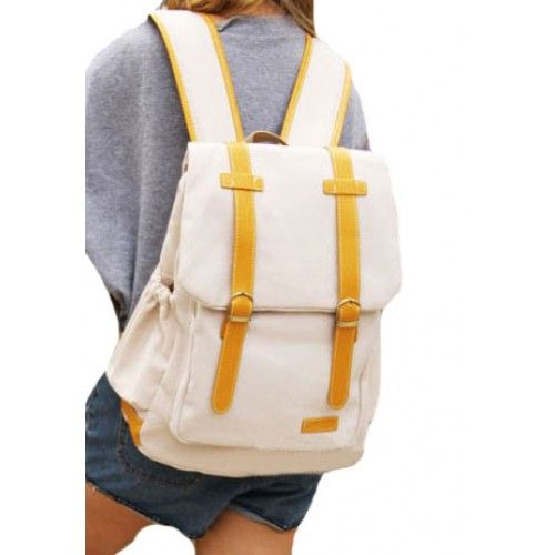 Price:$39.99 Color: Green/Blue/Beige Material: Canvas Leisure Cute Candy Mixing Color Canvas Backpack