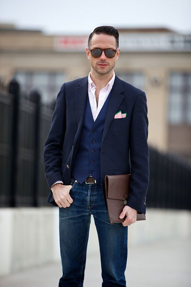 Image result for Casual Business Look blue suit