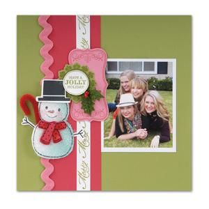 Have a Jolly Holiday Scrapbook Page