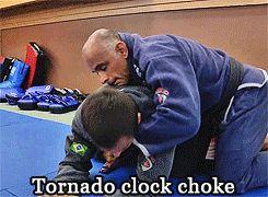 kellymagovern:  Brazilian Jiu-Jitsu gi chokes.