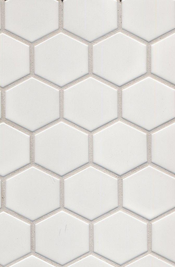 Beaumont Tiles >  Mono Hexagonal White Matt Mosaic 280x270 mm