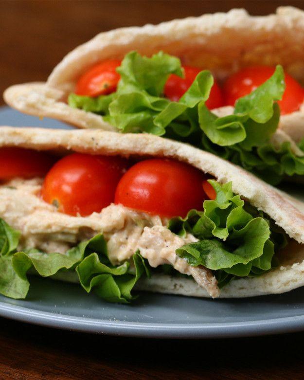 Healthy Meal Prep Chicken Salad Pockets