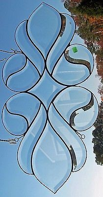 15 pc. Beveled stained glass  suncatcher panel