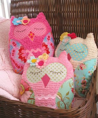 Sleeping Owl Pillows