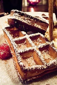 Belgian Waffle recipe:     Ingredients:   •1 tablespoon vegetable oil   •2 teaspoons vanilla   •Fruit of your choice   •2 tablespoons confectioner sugar   •2 teaspoons baking powder   •3 eggs, separated   •Whipped cream   •Pinch of salt   •2 cups all-purpose flour   •2 cups milk
