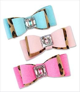 Big Bow Two-Tone Dog Hair Bow - Fifi LOVES them :)