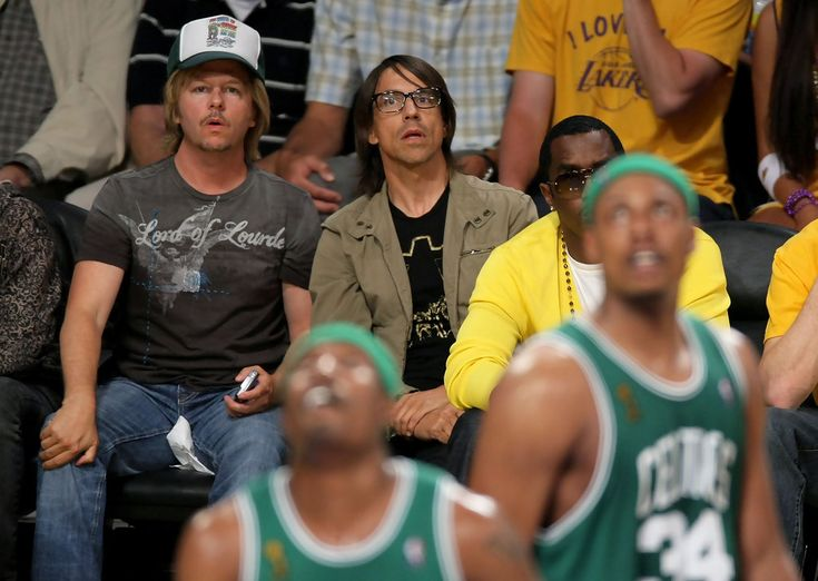Anthony Kiedis and David Spade Photo - Celebrities At NBA Finals Game 5: LA Lakers Vs. Boston Celtics