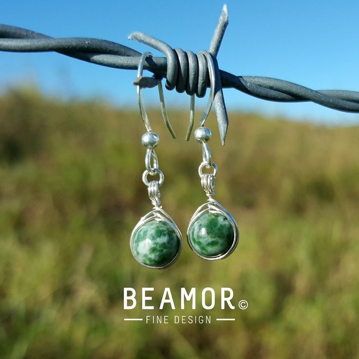 Tree Agate 6mm Herringbone weave earrings. Beautiful stone of calmness, oneness and a immune system supporter. Helps to elevate blockages in energy and great for relationship problems with children. #treeagate #gemstonehealing #gemstonejewelry #etsystore