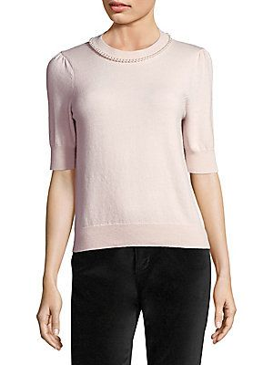18c3fe18730 Kate Spade New York Faux Pearl Embellished Sweater