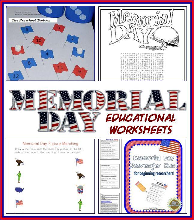 Memorial Day Educational Activities For Kids Educational