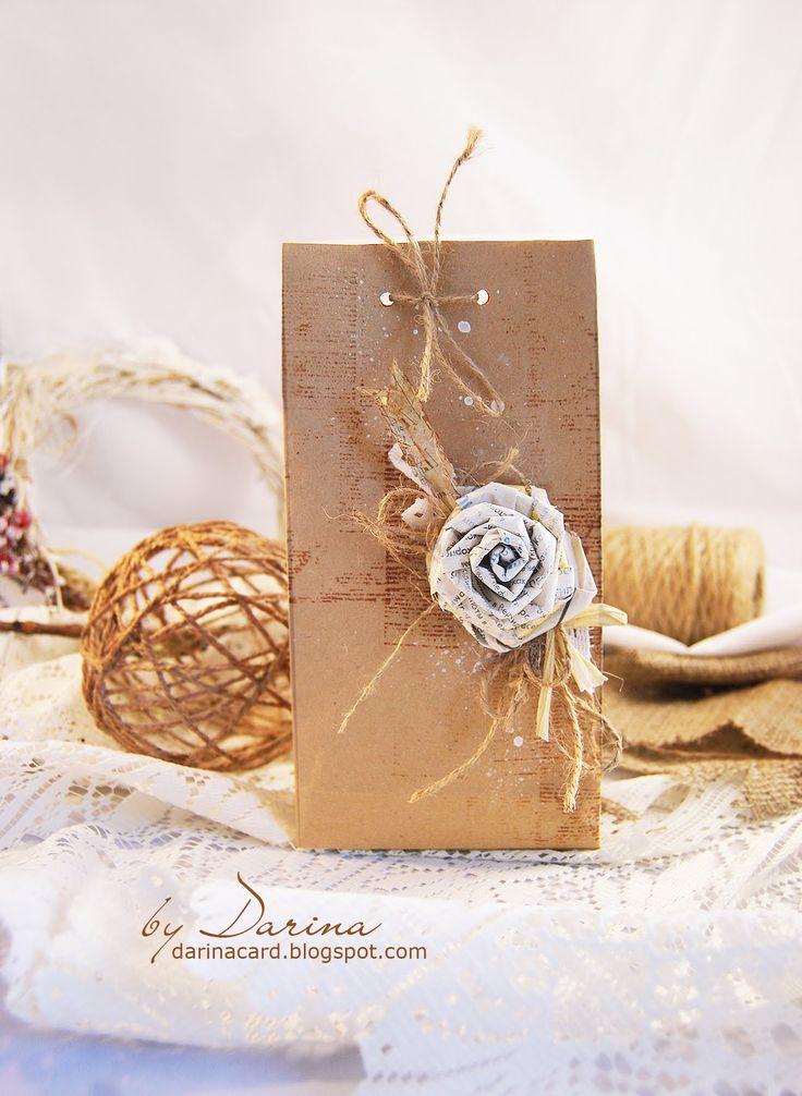 Бумажный пакет своими руками   Упаковка подарка